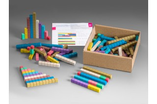 Counting rods. in 10 Montessori colours (100 pcs)