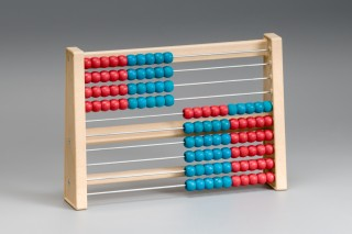 Abacus. number range of 100. red / blue