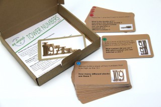 Task cards. for Tower numbers (english)