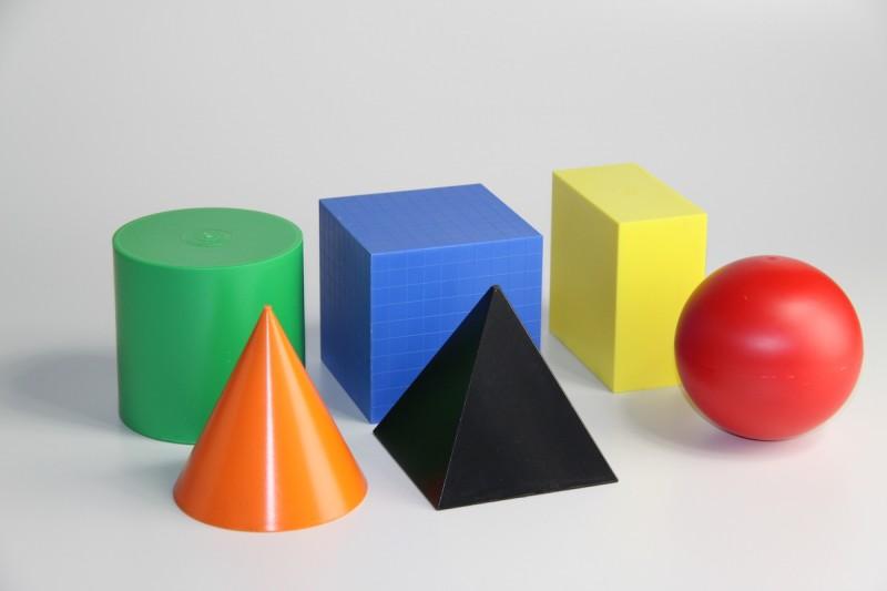 Geometrical Shape Set. in 6 colours (6 pcs)