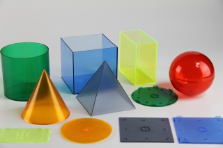 Geometrical Shape Set. transparent in 6 colours (6 pcs)