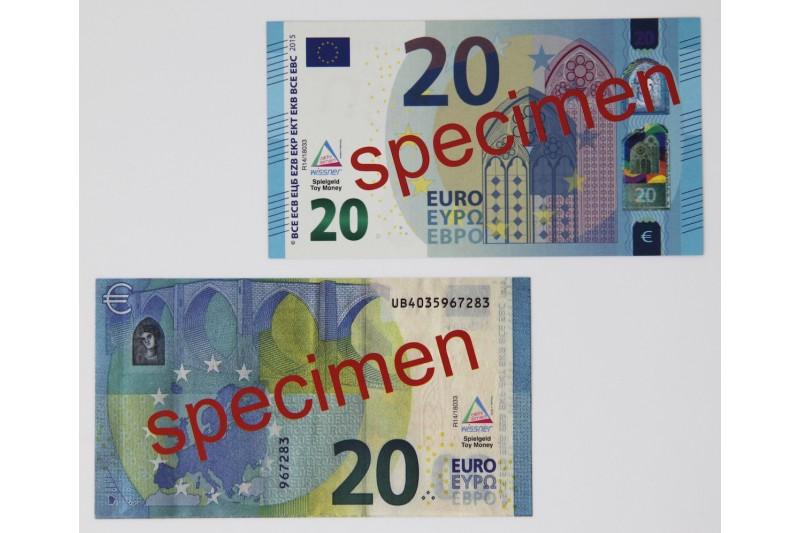 20 Euro - notes. 100 pcs
