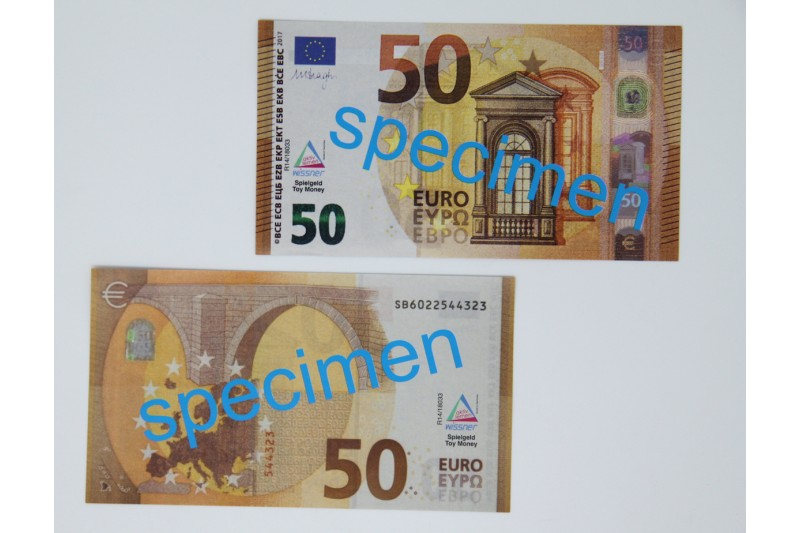 50 Euro - notes. 100 pcs
