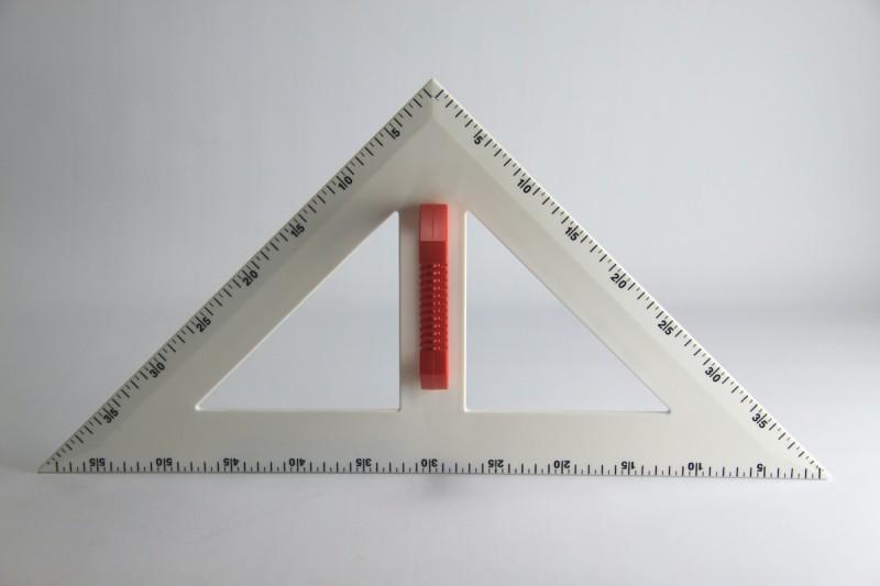 magnetic PROFI - Set square  45° 60 cm