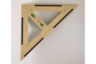magnetic RE-Wood® Set Square 45° 60 cm