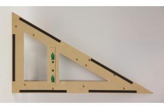 magnetic RE-Wood® Set Square 60° 60 cm