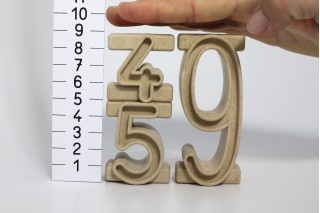 Tower Numbers. number space of 100. (34 pcs)