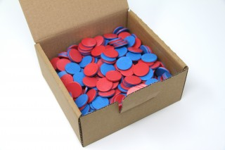 Counting chips. red/blue (400 pcs)