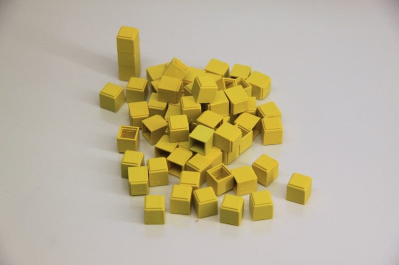 Base Ten Units. 100 pcs (yellow)