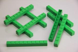 Rods of Ten. 50 pcs (green)