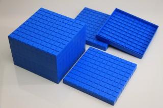 Hundred flats. 10 pcs (blue)