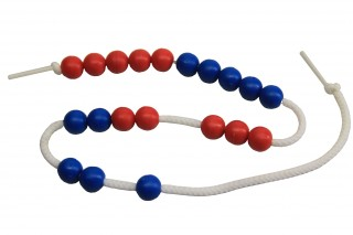 20 Arithmetic bead string. red/blue