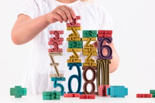 Tower Numbers. in Montessori colours. (34 pcs)