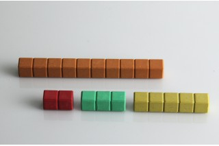 Counting Rods. in 10 colours (30 pcs)
