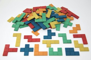 Pentominos.  in 5 colours (60 pcs)