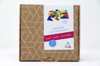 Tangram set. in 4 colours (28 pcs)