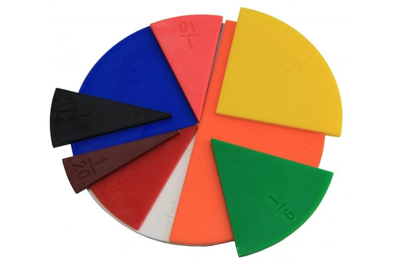 Fraction Set. round in 10 colours. (71 pcs)
